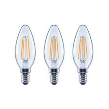 LED 4.5W 60W Chandelier Dimmable Filament B11 Clear E12 Base Soft White - 3 Pack