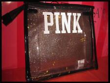 VICTORIA'S SECRET PINK PURSE MAKEUP PLASTIC TOTE GLITTERY  SPARKLY FOR ANYWHERE