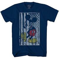 Mickey Mouse American Flag Disney World Tee Funny Adult Mens Graphic T-shirt Tee