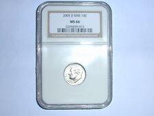 2005-D 10C SMS Roosevelt Dime NGC MS 66 2205839-013, Denver, Silver, Uncirculate