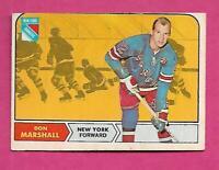 1968-69 OPC # 75 RANGERS DON MARSHALL GOOD CARD  (INV# C1458)