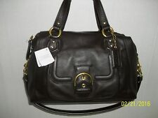 NWT COACH CAMPBELL CONVERTABLE SATCHEL #49897 Brown/mahognay