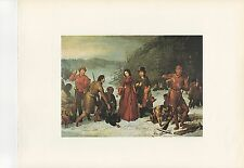 "1972 Vintage HUNTING ""THE TURKEY SHOOT, 1857"" CHRISTMAS TURKEY Color Lithograph"