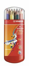 15 x Stabilo Swano Trio Ergonomic Colouring Pencils - In Plastic Case