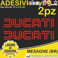 2 Adesivi Stickers DUCATI OLD panigale 848 1098 999 749 916 998 748 996 ROSSO