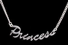 "Wholesale Princess Pendant Necklace 925 Sterling Silver 18"" Adjustable - 1 PACK"