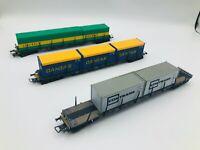 ***Lot of 3*** Röwa HO Container Cars - Contrans, Danzas, Schenker