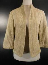 Beautiful Women's P12 Coldwater Creek Blended Beige Design Buttonless Jacket GUC