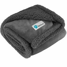 Premium Plush Sherpa Pet Blanket Sized for Cats, Small Dogs, Puppies, Kittens -