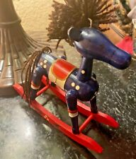 Vintage  Toy Rocking Horse WITH YARN TAIL & MAIN