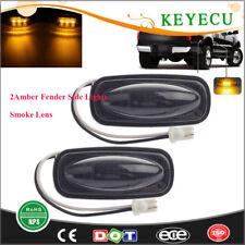 Smoked Lens Led Front Fender Side Marker Amber Lights for Dodge RAM 2500 3500 HD