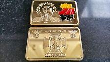 MAPPA Impero Tedesco Unity libertà Gold IRON CROSS WWI WWII TERRITORIO BANDIERA bar coin