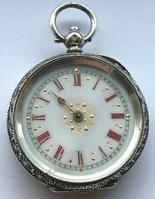 Antique Solid Silver Ladies Pocket watch .935 - BEAUTIFUL Case - Non runner