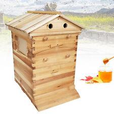 Beehive Wooden Box Beekeeping Cedar  Super Brood Box fit 7 Frames Honey Bee Hive