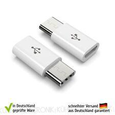 Adapter Stecker Micro USB zu USB C Typ-C Stecker USB Typ B zu USB 3.1 Typ C weiß
