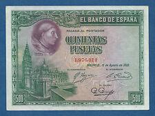 ESPAÑA // SPAIN -- 500 PESETAS ( 1928 ) -- SC- // aUNC  -- SIN SERIE -- PICK 77a