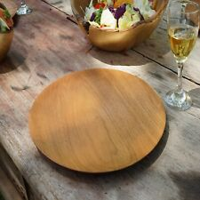 Wooden Plate / dish , cheese board ,Natural Teak Charger Serving Plate