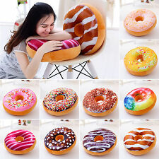3D Plush Donut Soft Cushion Stuffed Toy Doll Home Decor Throw Pillow Cover Gifts