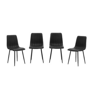 Tiana Set Of 4 Black Dining Chairs