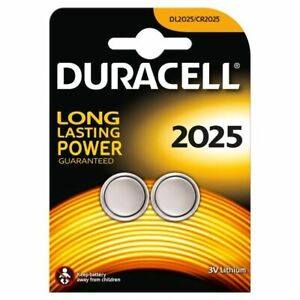 2 x Duracell CR2025 3V Lithium Coin Cell Battery, DL 2025, BR2025, 1 Pack of 2