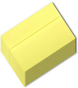 Yellow Pastel A7 5-1/4 x 7-1/4 Envelope for 5x7 Invitations Announcements Canary
