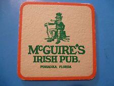 Beer Pub Coaster: McGuire's Irish Brewery, Pensacola, FLORIDA ~ Funny Date Notes
