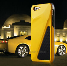 Yellow Triple Transformer Hybrid Heavy Duty Case REAL Glass Film For iPhone 6 6S