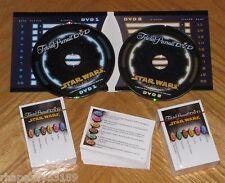 STAR WARS 300 Trivia Cards + 2 DVDs - Trivial Pursuit Saga Edition Game Parts