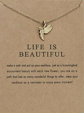 New Womans Sentimental Life Is Beautiful Make A Wish Pendant Necklace With Card