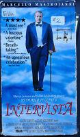 Intervista (VHS) 1987 Fellini classic w/Marcello Mastroianni; English subtitles