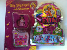 Sammelfiguren/Filly-Pferde Baby Crystal mit Schlossdose+Unicorn Silver Edition