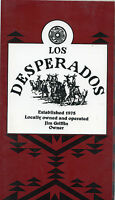 Older Restaurant Menu - Established 1975 - Los Desperados - J. Griffin Owner