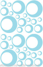 32 POWDER BLUE CIRCLE CIRCLE BEDROOM WALL DECAL STICKER Teen Baby Kids Dorm Room