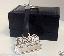 Mens Womens Gift Spanish Las llaves de Key Ring Free Engraving Gifts for Him Her