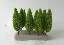 10 x SLIM MODEL FIR TREES 9.5 cm SCENERY FOR MODEL RAILWAY OO / HO SCALE NEW B9