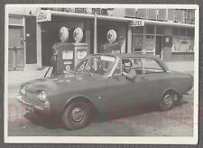 Vintage Car Photo Ford Taunus at Texaco Caltex Service Station Gas Pumps 741936