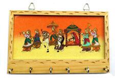 Wall Decor Wall Key Brown 6 Keys Holder Wooden Key Holder