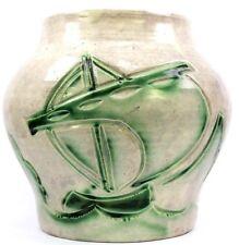 Art Deco Edward Radford Scraffiato Studio Ware Art Pottery Vase