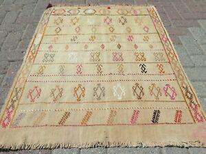 "Door mat, Turkish Small Kilim Rug, Bathmat, Small Carpet, Teppiche Tapis 35""X45"""