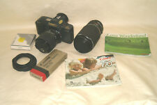 Canon T 70 35MM Film Camera CANON Zoom LENS FD 75-200MM Sigma Zoom Mstr 52 LENS