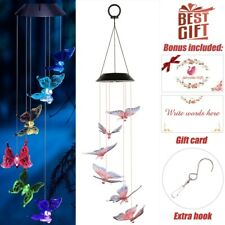 Solar Power Led Color-Changing Wind Chimes Yard Home Garden Waterproof Diy Decor