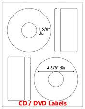 1000 Memorex Compatible Large Core CD DVD Laser / Ink Jet Labels 500 sheet Label