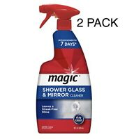 (2PK) Shower Glass Mirror SPRAY CLEANER Anti Fog remove bathroom soap scum MAGIC