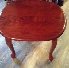 cherry end tables set of two
