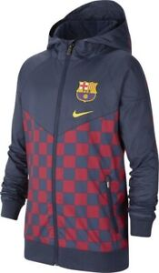 Nike F.C. Barcelona Woven Kids Windrunner Jacket Medium Blue Red