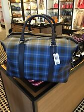 Coach Voyager Plaid Printed Coated Canvas Travel Weekend Duffle Bag F55488