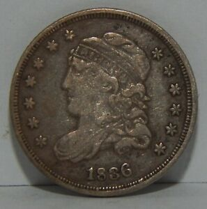 1836 - Silver Capped Bust Half Dime - 5¢ - Large 5C