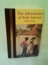 ADVENTURES OF TOM SAWYER BY MARK TWAIN - FAUX LEATHER AND GILDED BINDING - 1999