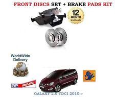 Für Ford Galaxy 2.0TD TDCI 2010 > Bremsscheiben Vorne Satz und Bremsbeläge Set