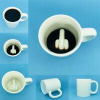 Funny Joke Middle Finger Coffee Cup Big Surprise Ceramic Mug Gift for Friend